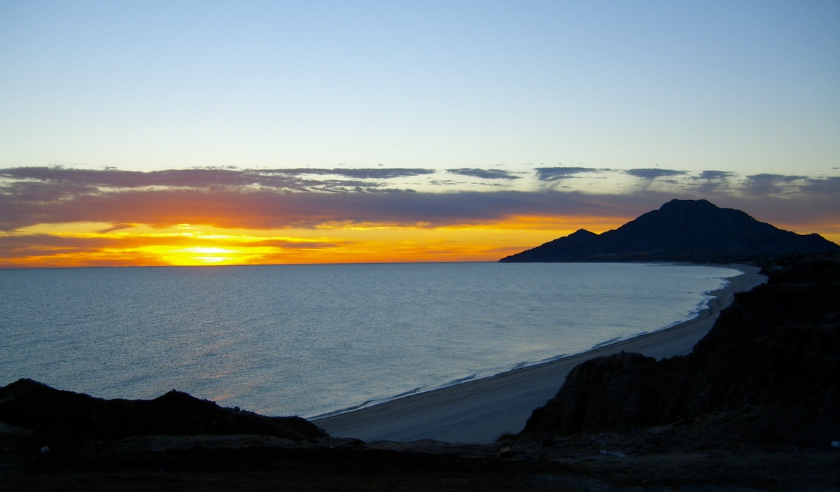 """This will be your view of sunrise over the Sea of Cortez, which Cousteau called """"the aquarium of the world."""""""