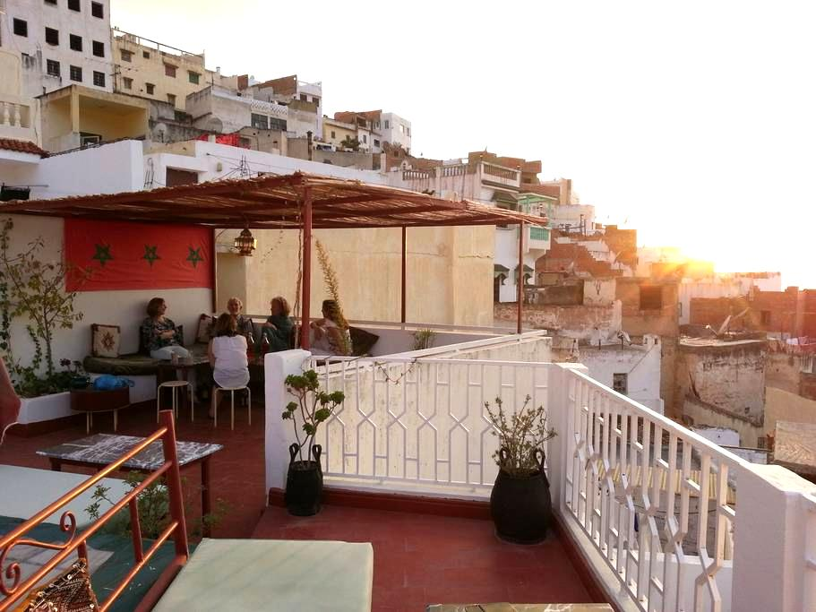 Moulay Idriss - Terrace views of Volubilis - Moulay Idriss - Bed & Breakfast