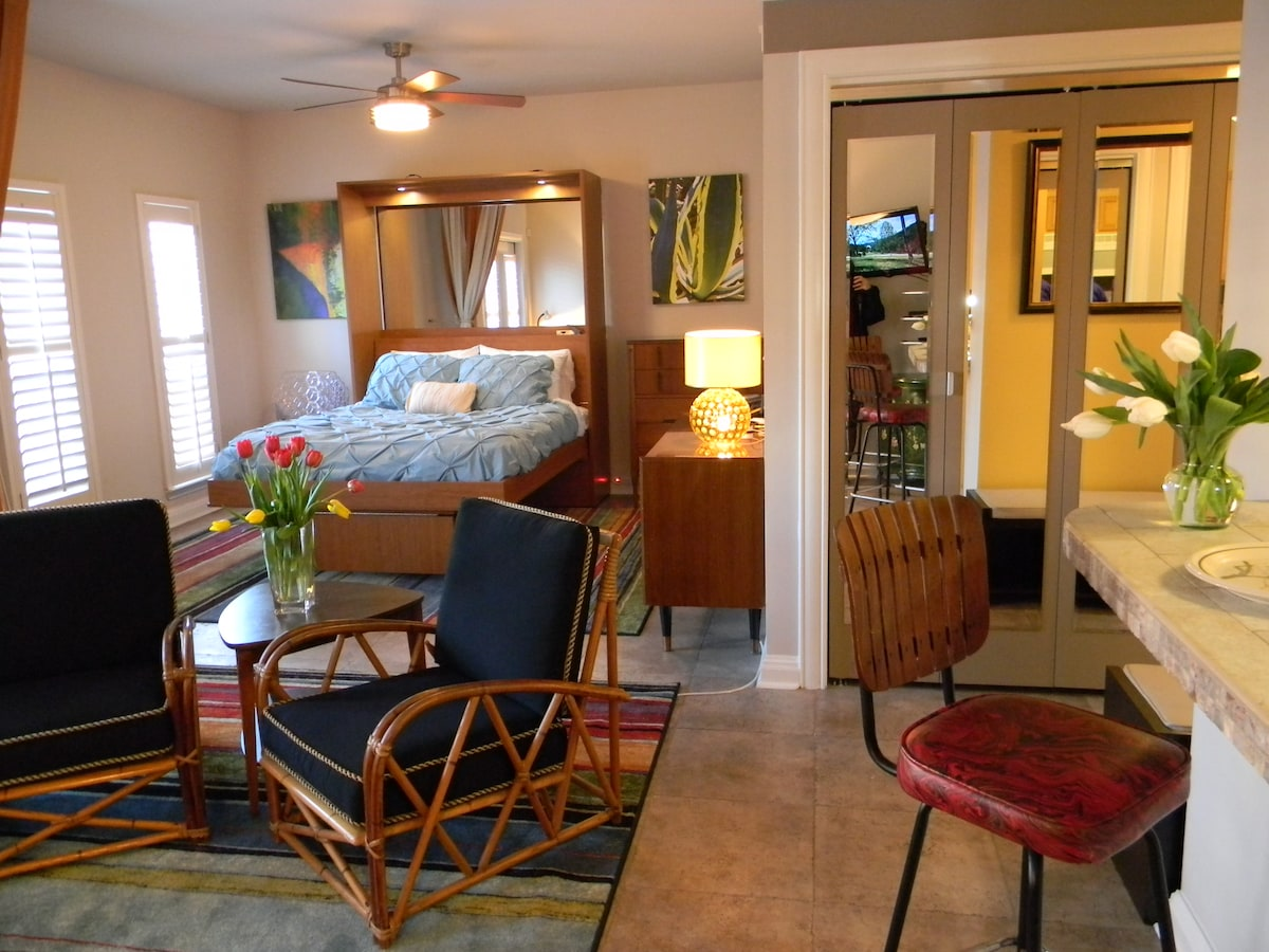 The spacious, open layout is perfect for singles or couples.
