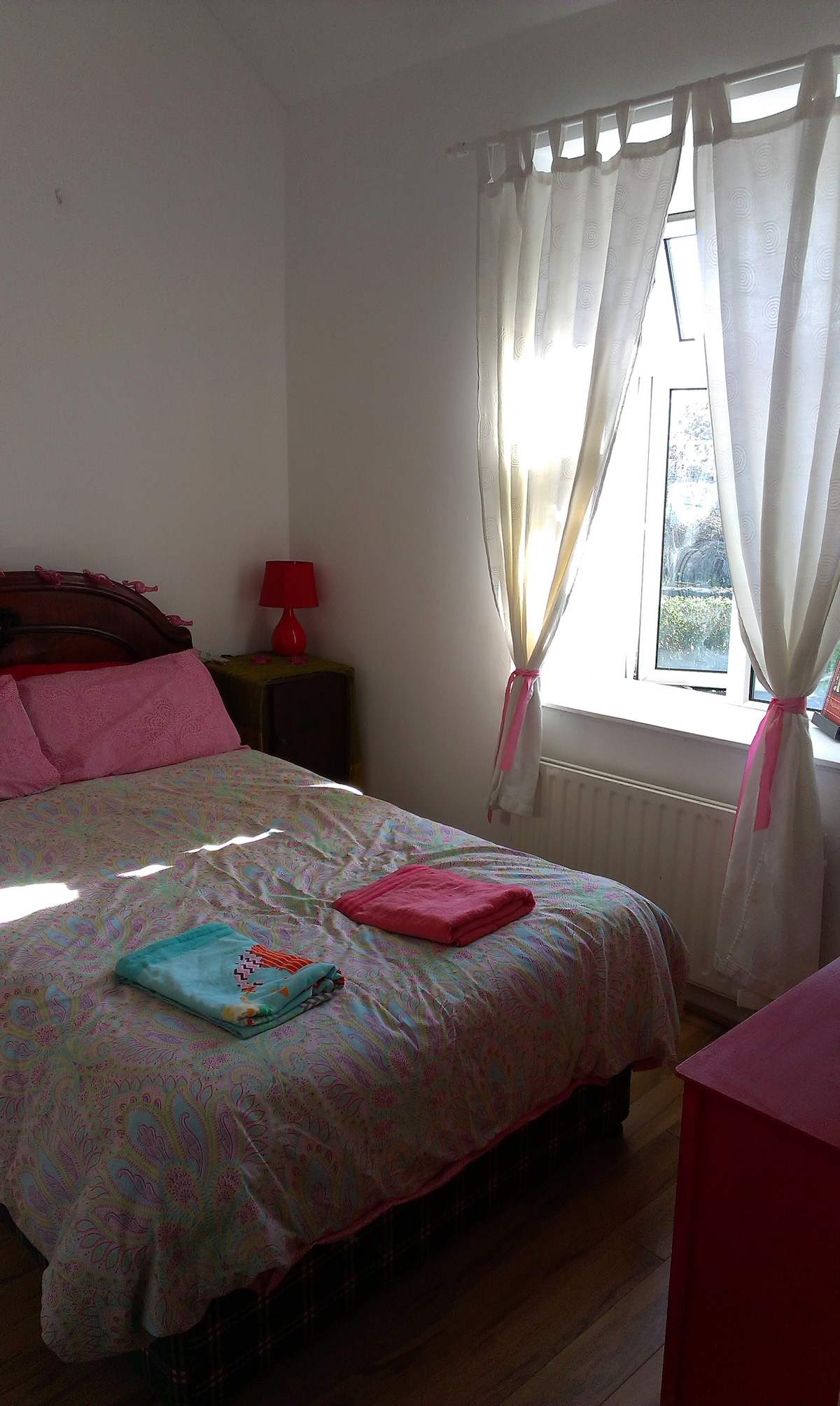 Double bed in good location