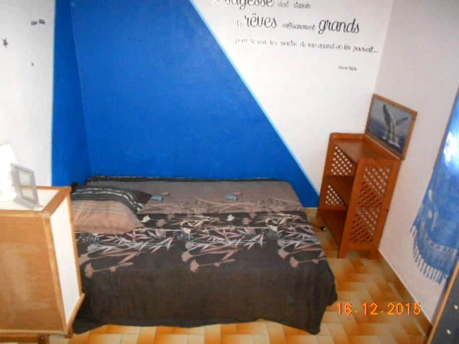 chambre un lit 2 places - Sainte-Anne - Hus