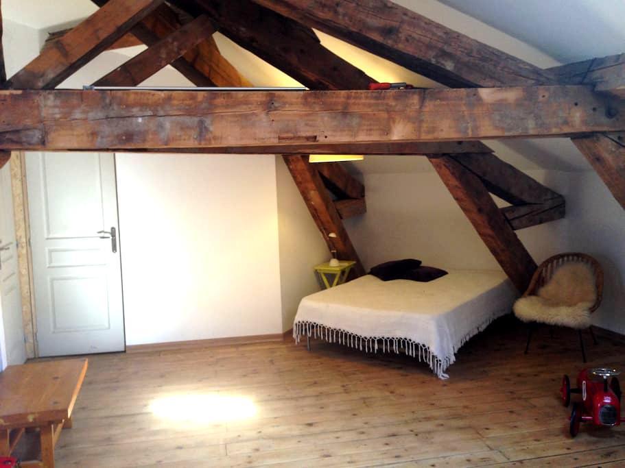 studio/terrasse sous les toits - Romans-sur-Isère - Apartment