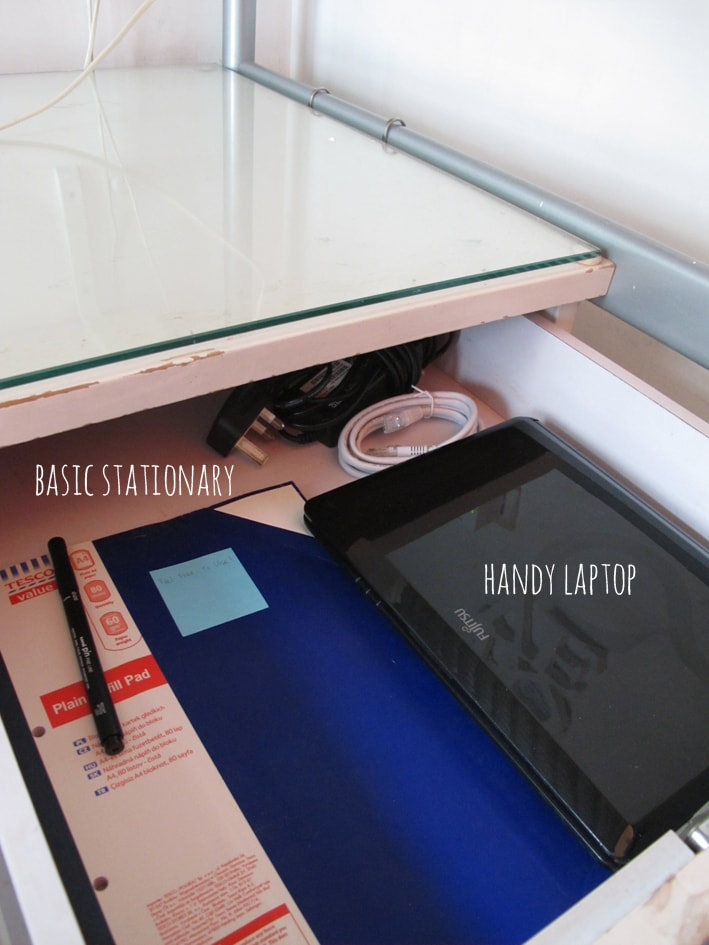 Basic stationary and laptop , just incase you need them !