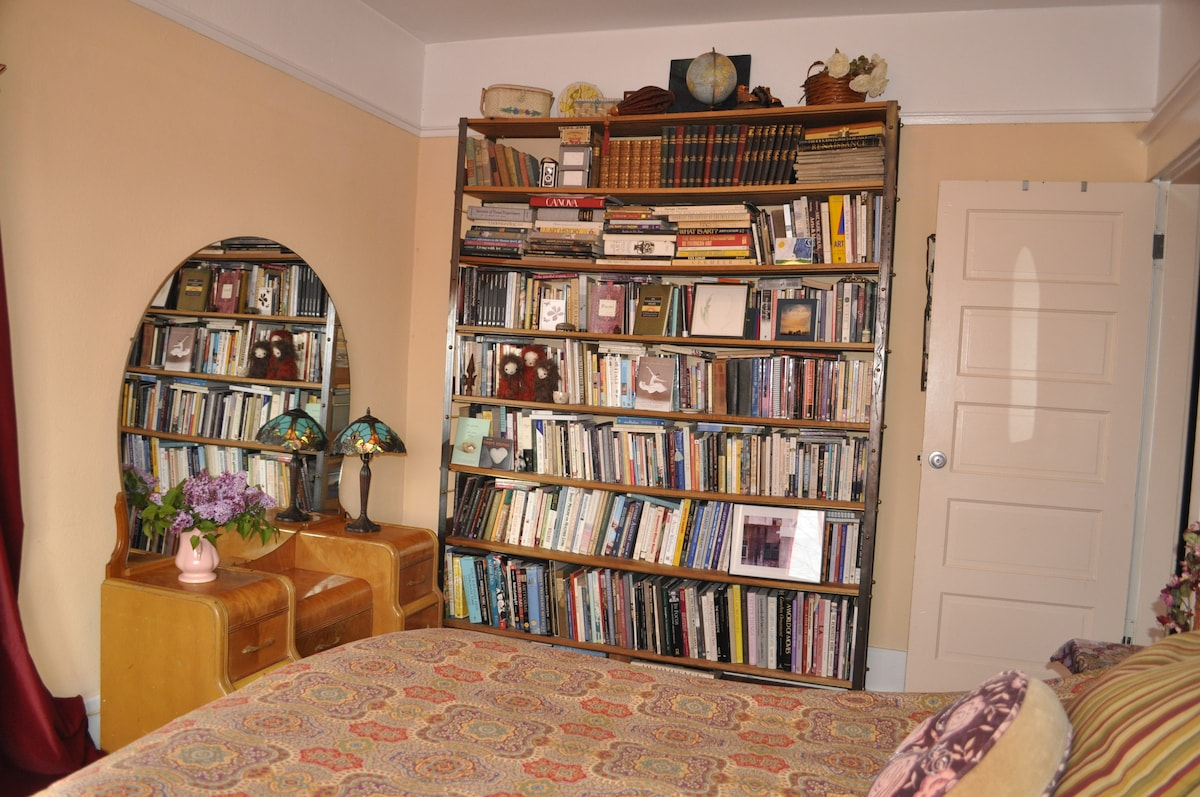 Many books to explore...art catalogues, travel books, healing arts and poetry!