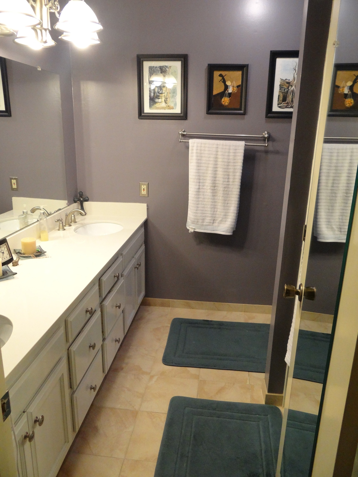 Master bathroom, renovated in May.