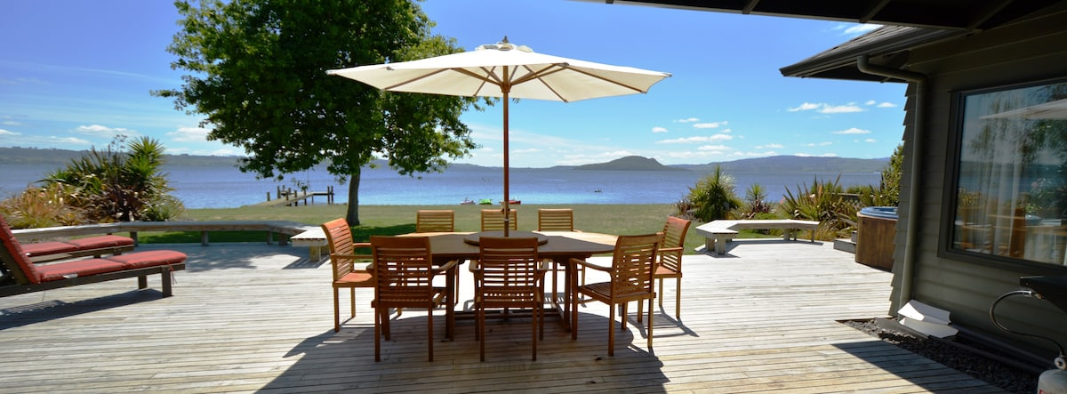 Absolute Lakefront luxury living only 8kms from the centre of Rotorua