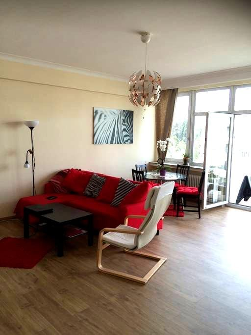 Large sunny room in spacious appart - Ixelles - Byt