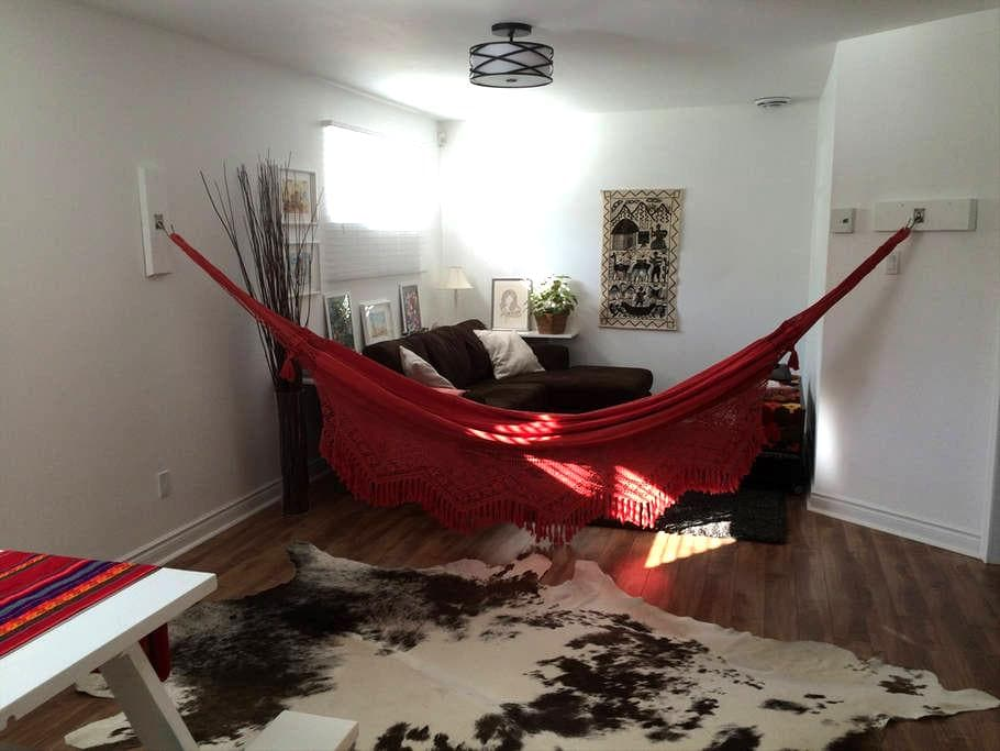 Entire floor, nice and cozy two bedrooms basement - Chambly - Haus