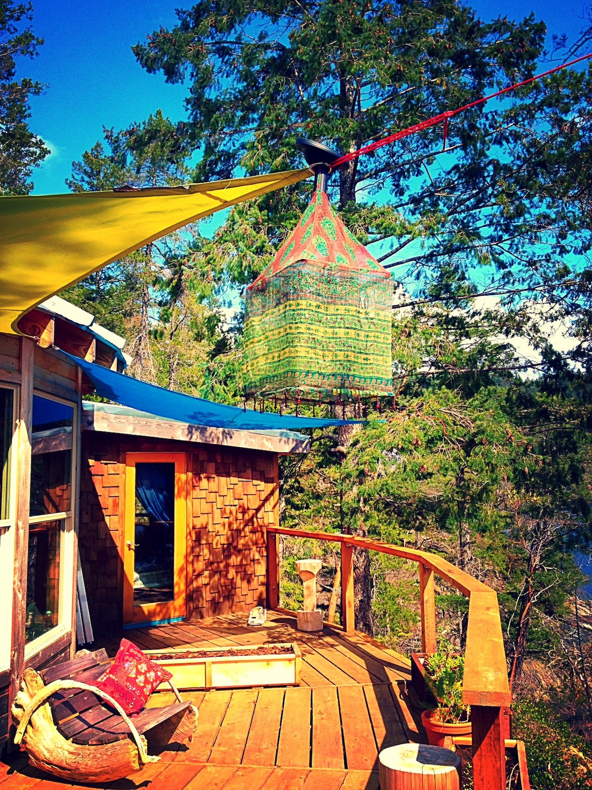 Out There - yurt, private island