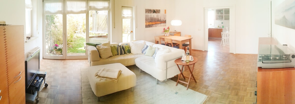 Peaceful oasis: bright and spacious