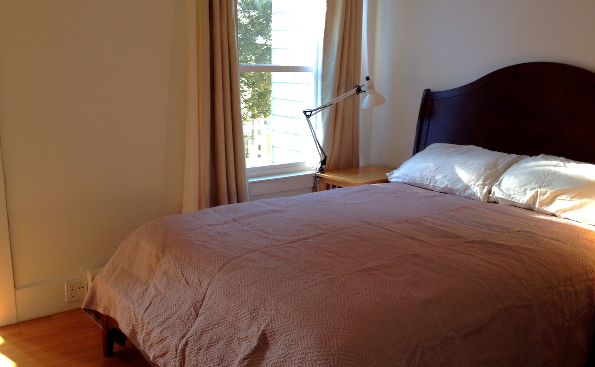 2nd bedroom: a new queen sized bed with the best mattress.