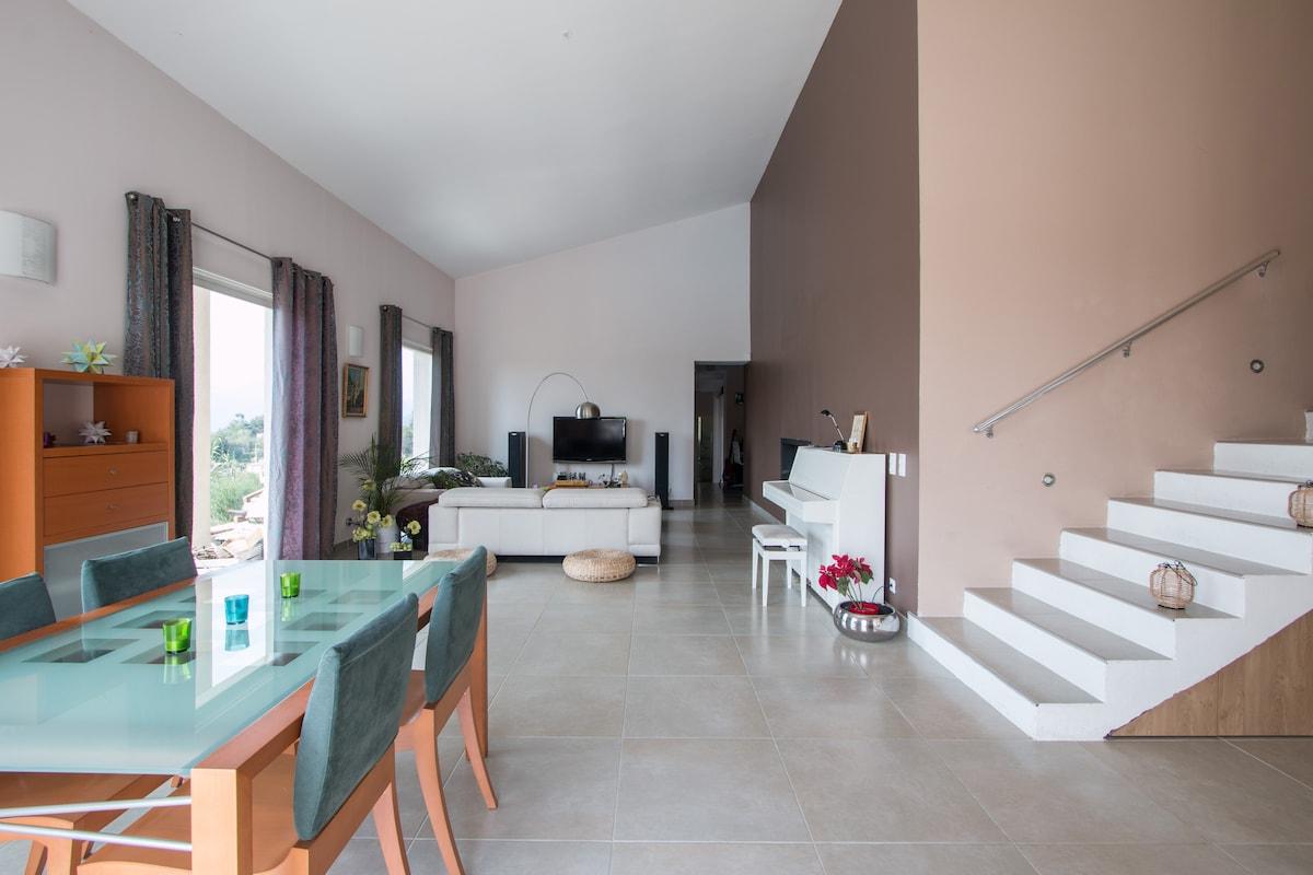 Villa avec piscine hauteurs de Nice