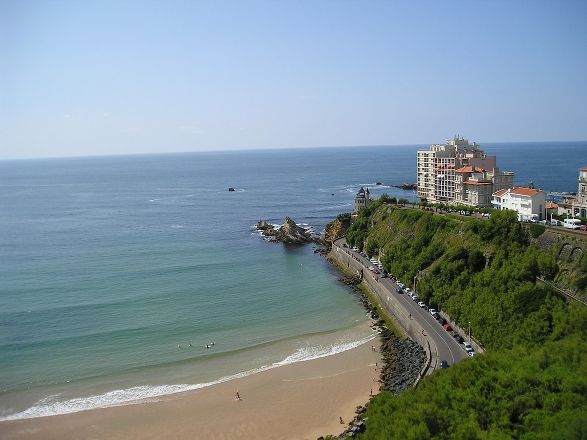 In the heart of Biarritz, ocean vue