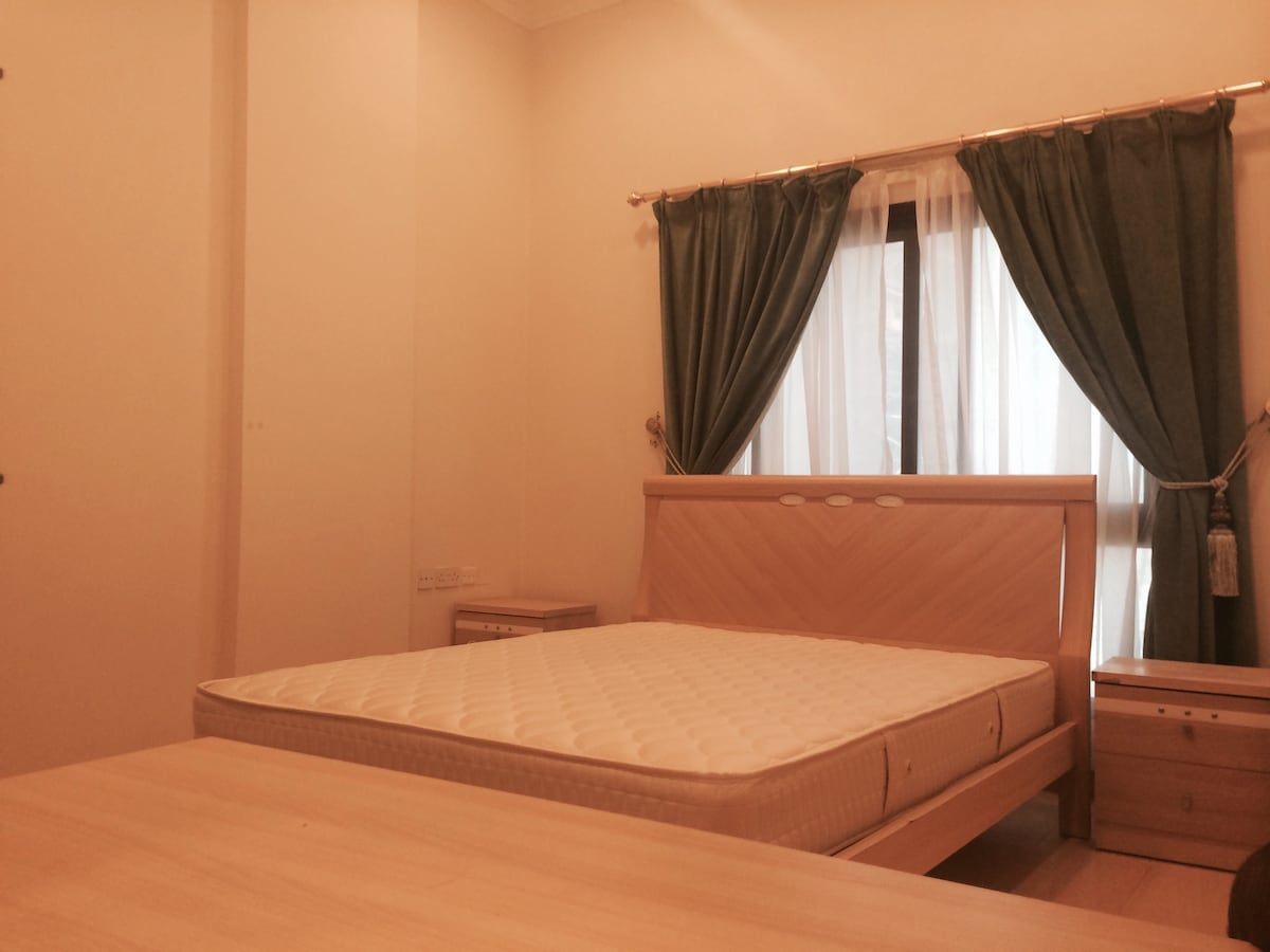 Furnished bedroom in 2BR apartment