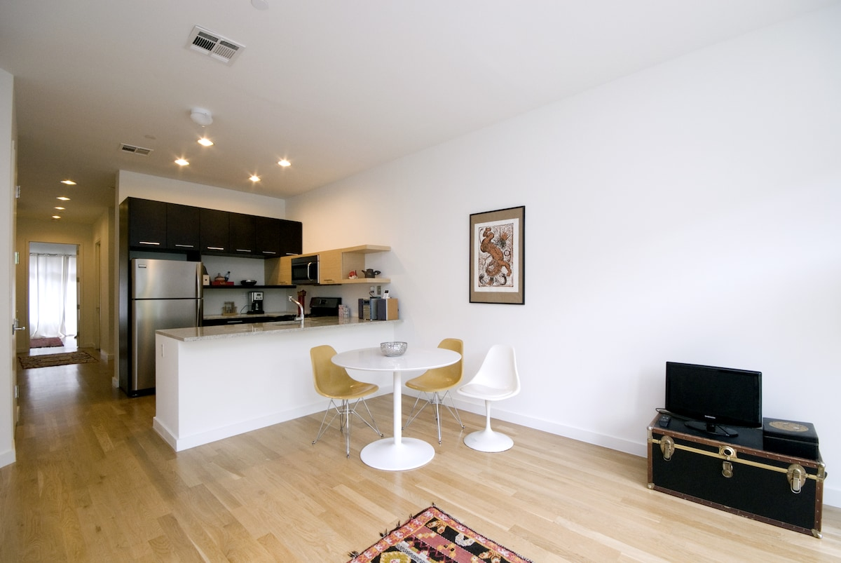Open dining/living area