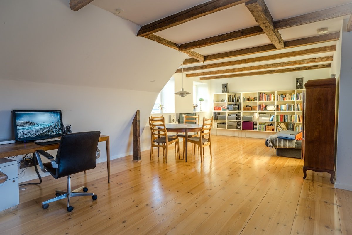 Penthouse with balcony in Vesterbro