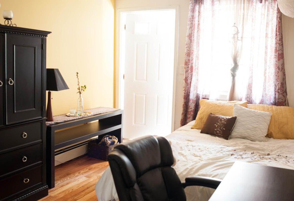 Large Quiet Room in Spacious Duplex