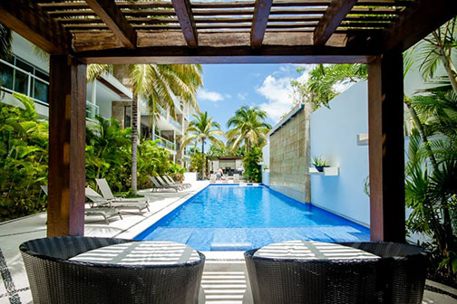 Gorgeous pool with ample seating to ... relax