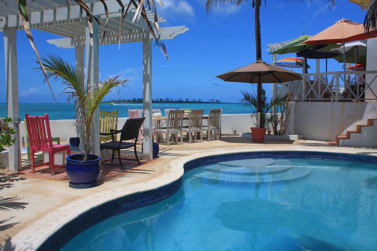 Charming oceanfront bedroom for 2