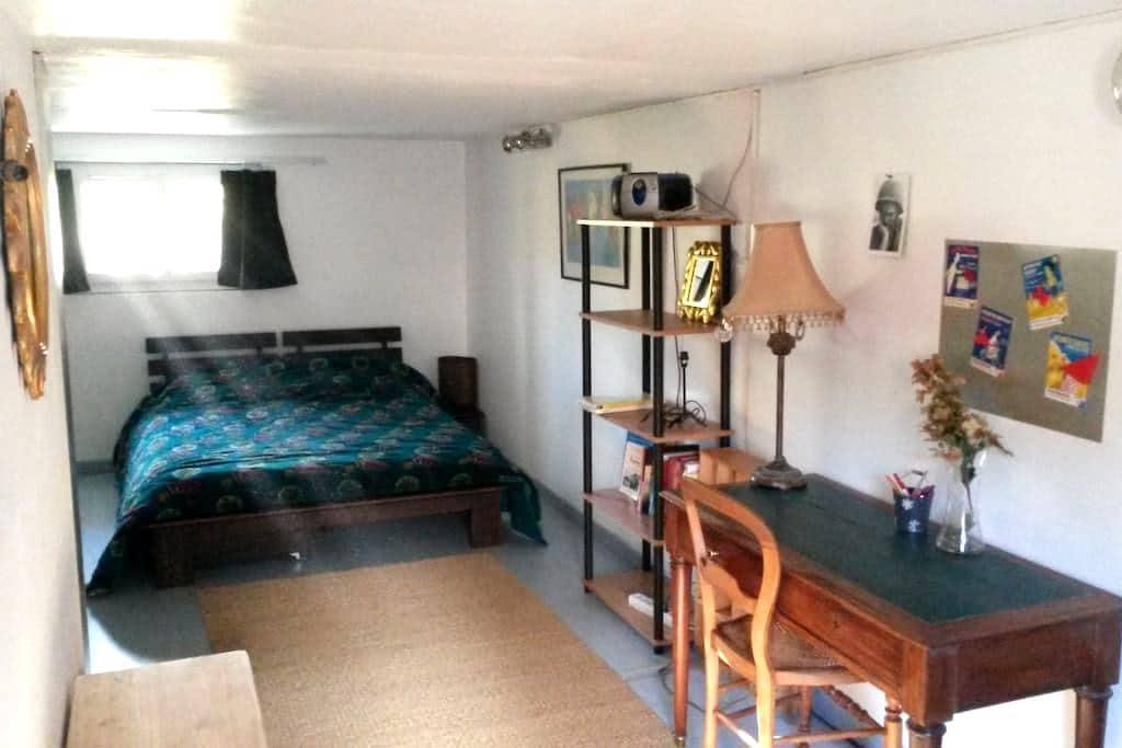 Chambre spacieuse sur jardin - Saint-Cyr-sur-Loire - Huis