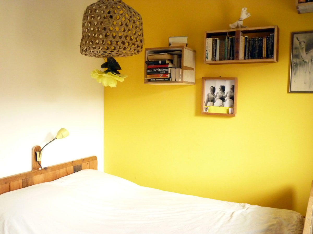 Bed room with double bed south facing