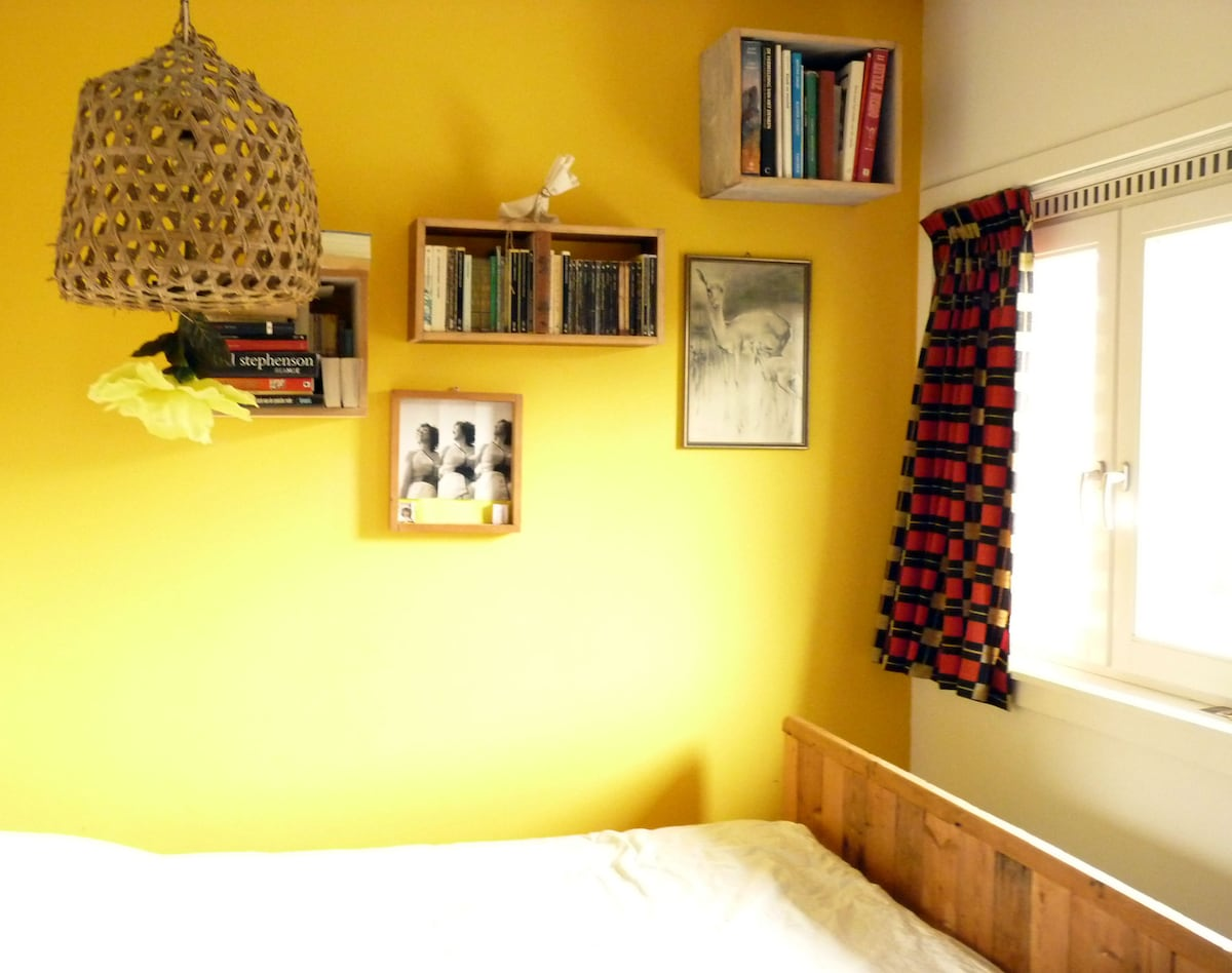 Bedroom with double bed south facing