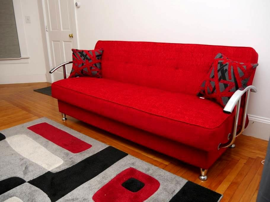 Large Private room with Comfy Pull up Sofa! - Lynn - Departamento