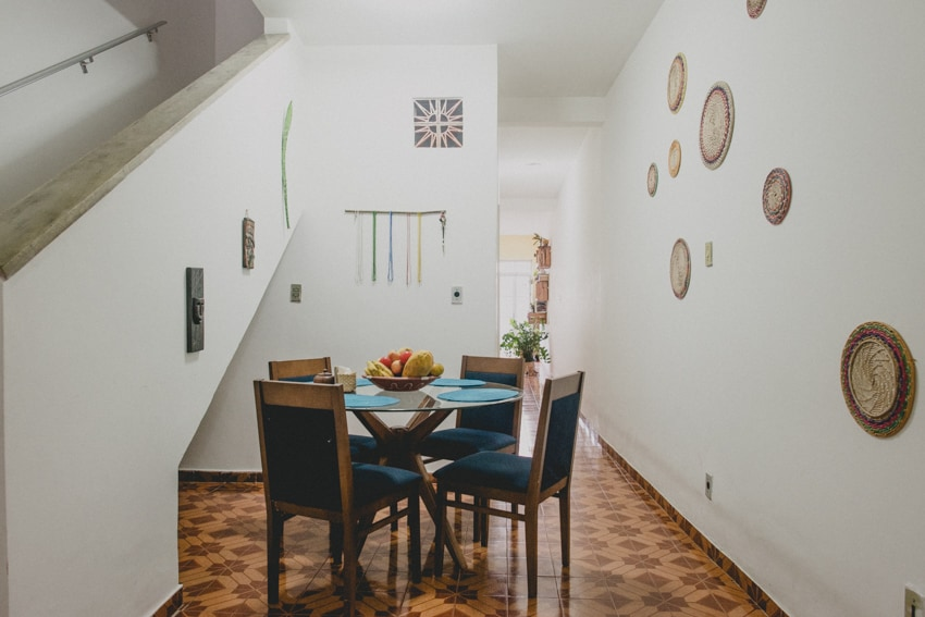 Here's one of our dining areas, it's on the first floor. On the left you can see the staircase up to your room. More pictures as you scroll..