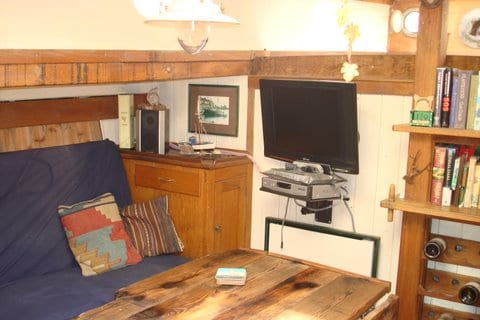 Saloon seating and TV flatscreen for DVDs. We have a good selection