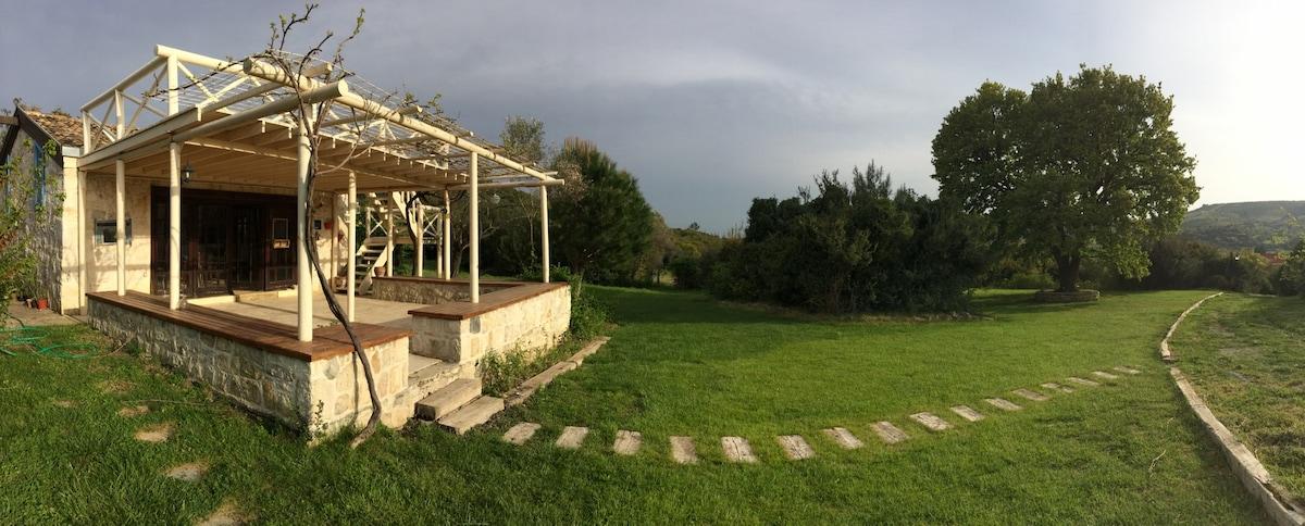 Stone House in Utopia Organic Farm