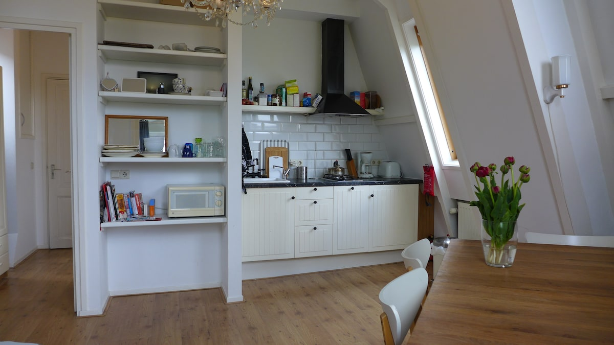 entrance hall and kitchen