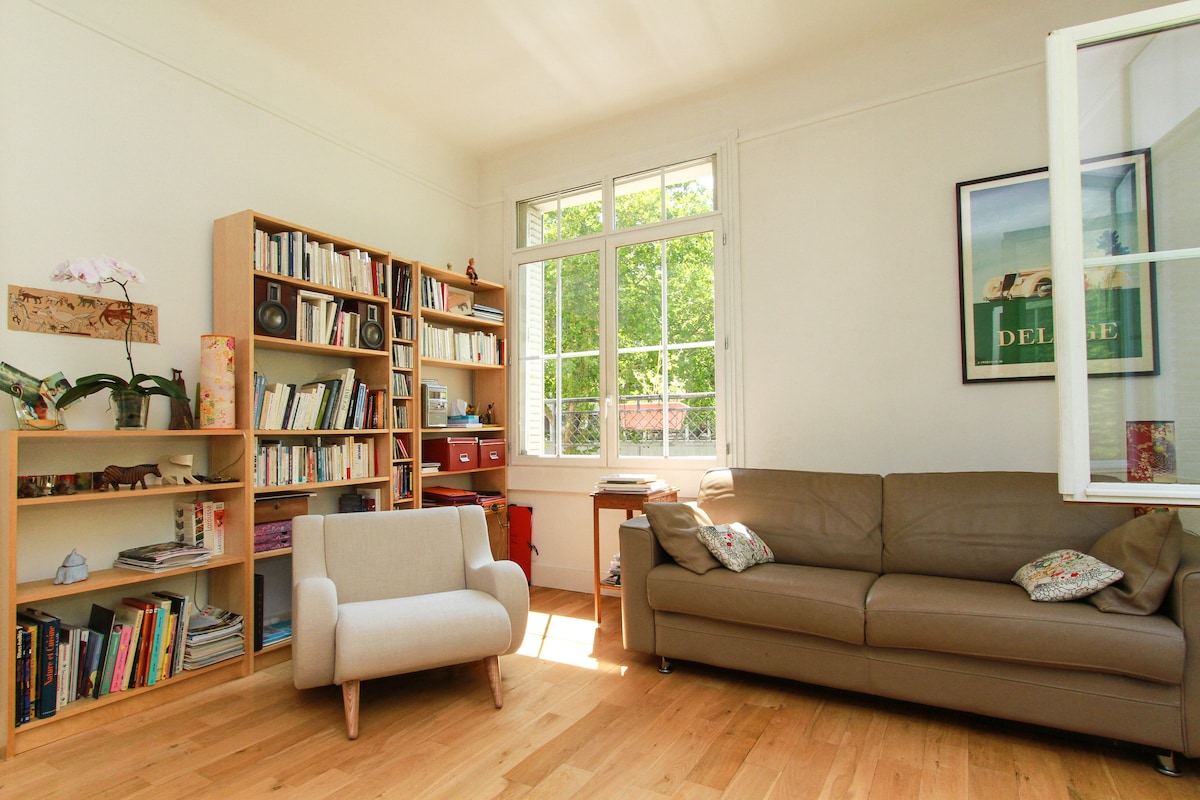 The sunny and large living room.