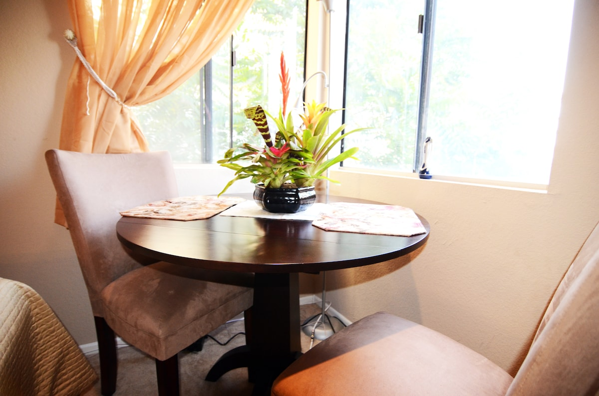 Dining area in your room