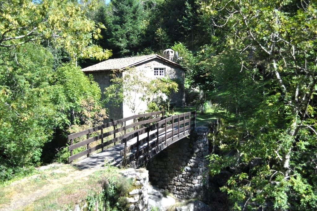 Charming Room in ancient mill close to the river. - Albon-d'Ardèche - Lejlighed