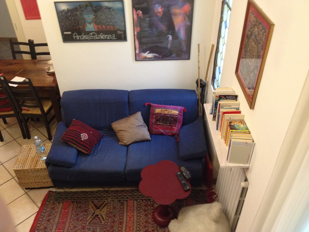 The sofa in the living room