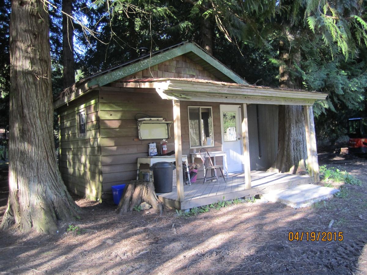 Organic farm cabin