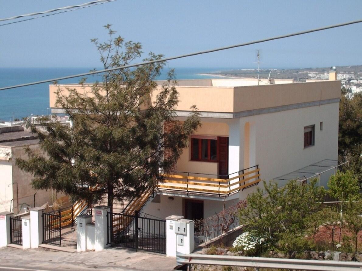 Vista della villa