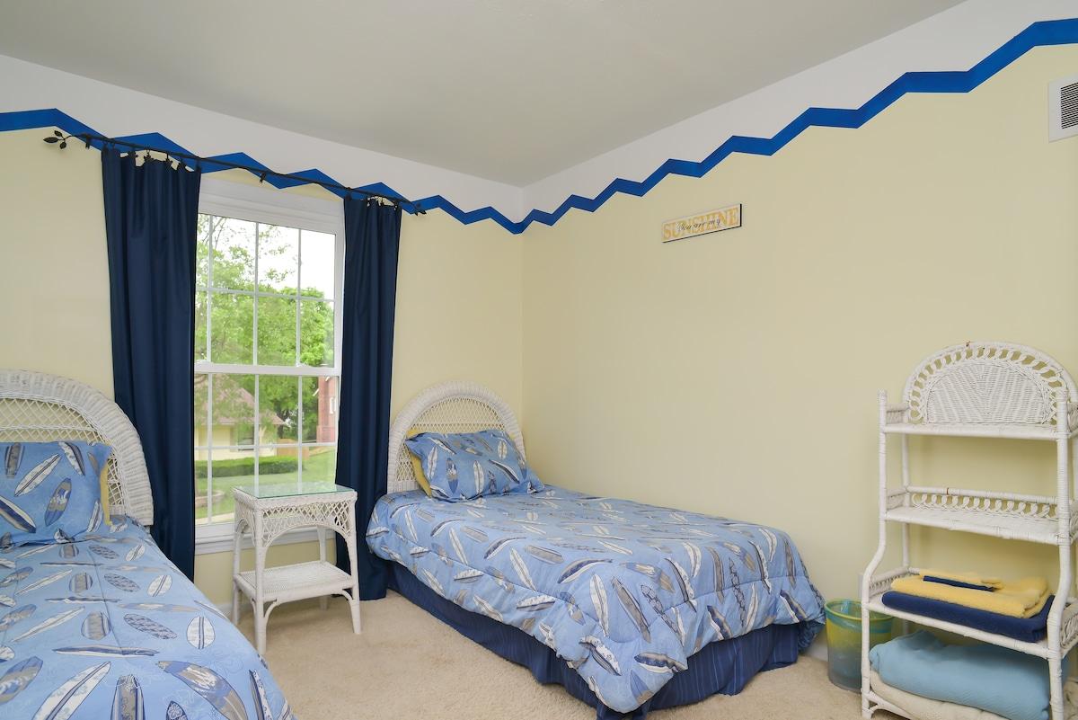 Sunny, light bedroom in South KC