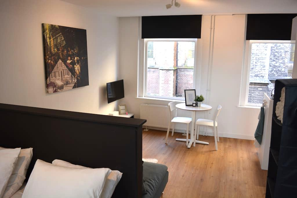 Modern studio apartment in historical city centre - Leiden - Huoneisto