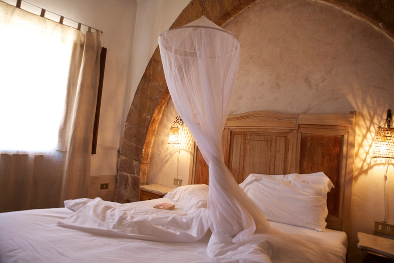 romantic double bedroom with private bathroom