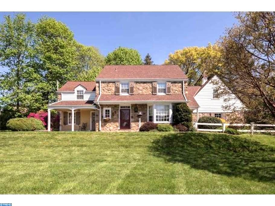 Private bedroom/bath; wooded view; Quiet. - Glenside - Casa
