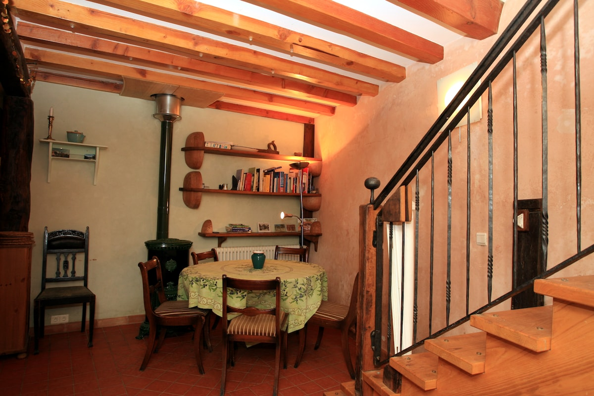 The house has been lovingly restored using local wood and lime plaster