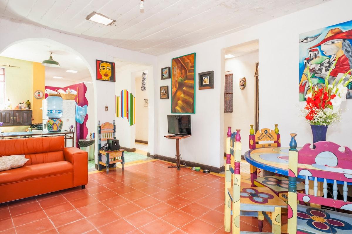 Casa D'arte a cinco min del centro