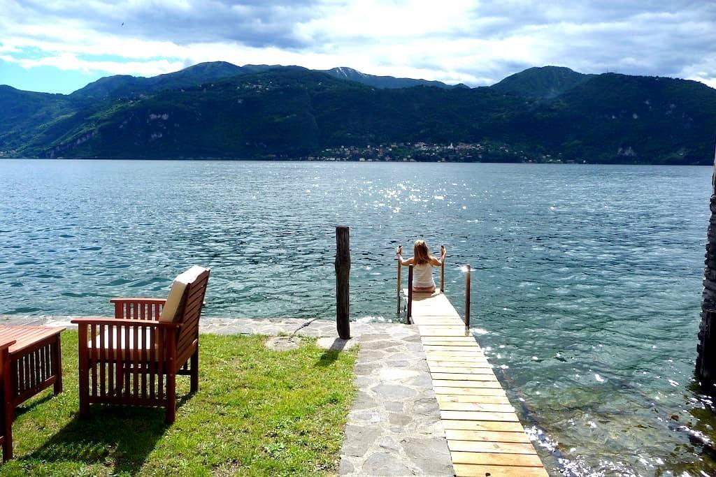 Piccola casa naturale sul lago - varenna - Huis
