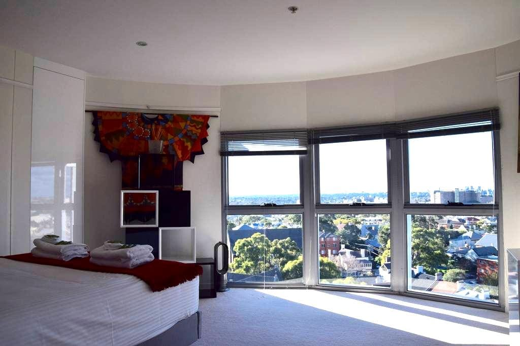 Silos Penthouse Apartment with Suburb & City views - Newtown