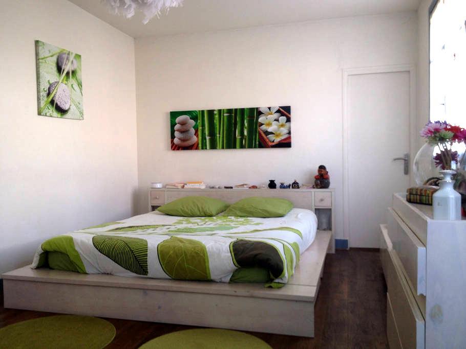grande chambre claire sdb wc prives - Le Plessis-Robinson