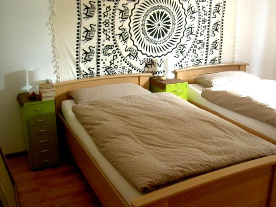 """gemütliches Doppelzimmer """"Afrika"""" Blick ins Grüne - Horstmar - Flat"""