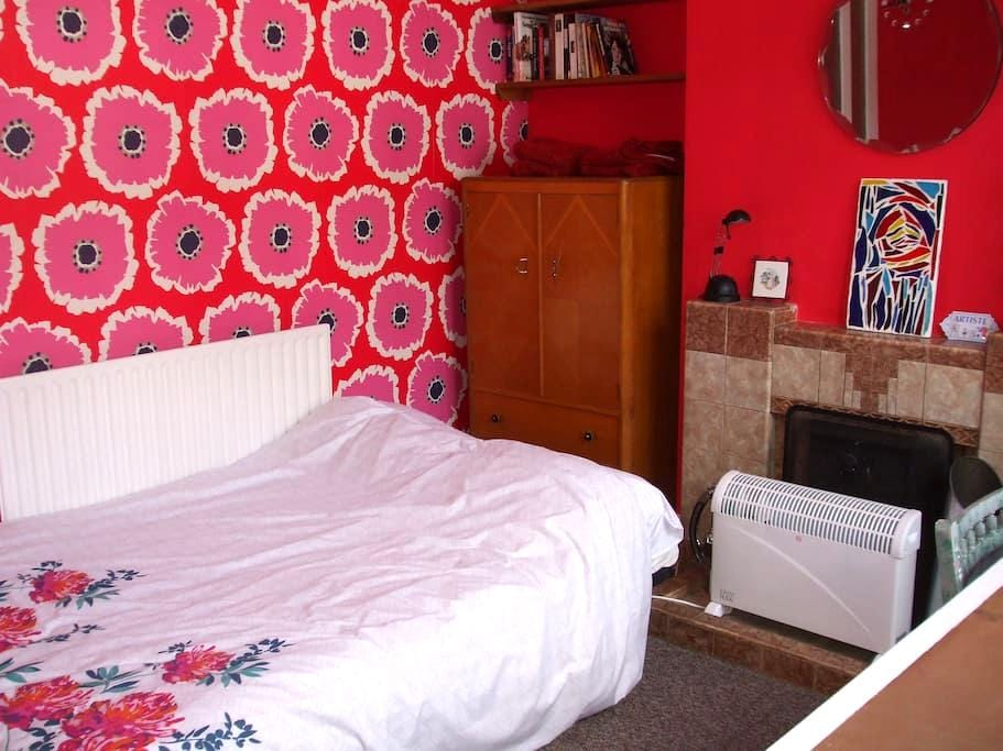 Colourful room in artists house - Loughborough