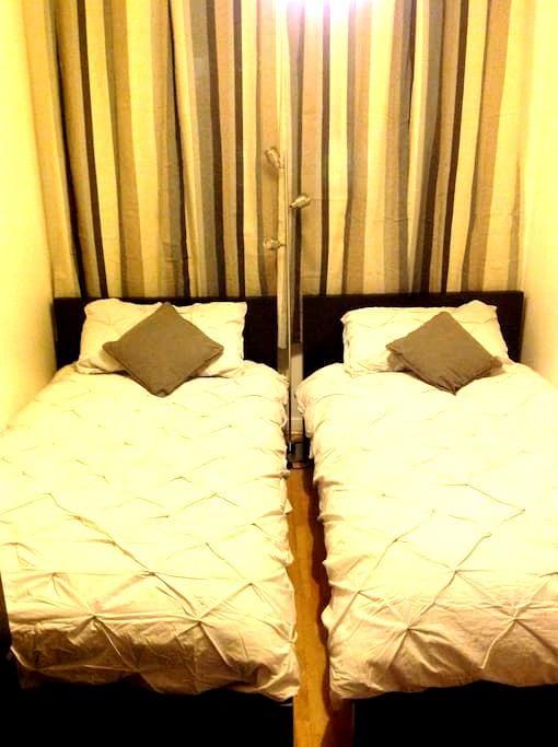 Cosy twin room in central flat - Edimburgo - Bed & Breakfast