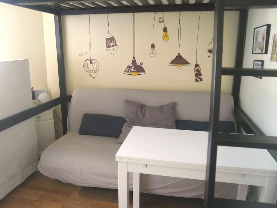 Nice comfortable studio 12 min Champs-Elysées - Suresnes